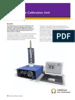 RG Omega 005 High Pressure Calibration Unit A4 Datasheet