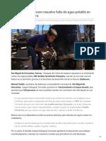 04-02-2019  - Tras 6 años Sedesson resuelve falta de agua potable en Estación Pesqueira - Tribuna.com.mx