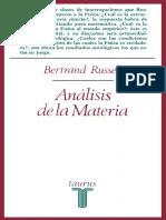 Russell, B - El Análisis de La Materia