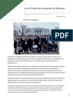 04-02-2019 - Participan Docentes de Cobach en Programas de Liderazgo Internacional - Canalsonora.com