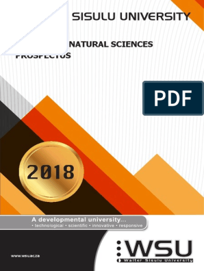 Faculty-of-Natural-Sciences-prospectus-2018 pdf | Thesis | Academic