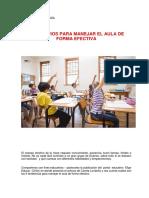 5 Principios Para Manejar El Aula de Forma Efectiva