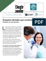 Empastes Dentales Que Contienen Mercurio ACMT AACT