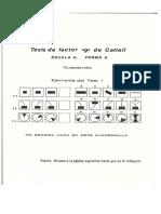 Catell Factor g Escala 2 Cuadernillo