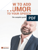 How to Add Humor to Your Speech