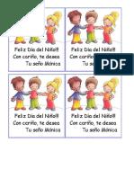 Tarjeta Dia Del Niño Regalo