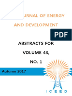Abstracts for The Journal of Energy and Development volume 43, number 1, autumn 2017