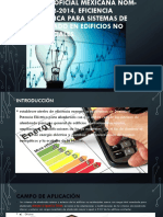 Nom-001-Eficiencia Electrica Para Sistemas de Alumbrado Presentacion