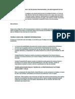 Teoría Cuantitativa Del Dinero o de Los Precios Internacionales y de Autorregulación de Los Metales Preciosos