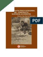 Examen ontológico-categorial del constructo sustancia-accidentes