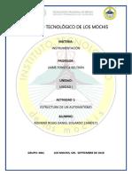 Estructuras de Un Automatismo PLC