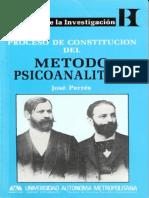 Libro JOSE PERREZ- Proceso Constitución Método Psicoanalítico (1).pdf