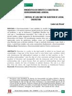 A Crítica Hermenêutica Do Direito e a Questão Da Discricionariedade Judicial