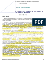 Swagman Hotels & Travel Inc vs CA _ 161135 _ April 8, 2005 _ CJ Davide, Jr _ First Division _ Decision