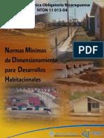Normas Minimas de Dimensionamiento Para Desarrollos Habitacionales
