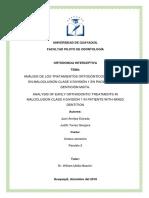 Tratamientos en pacientes con maloclusión de clase II.