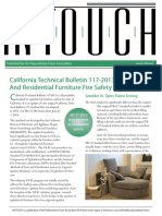 California Technical Bulletin 117-2013 and Residential Furniture Fire Safety