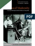 [Richard Bauman, Charles L. Briggs] Voices of Modernity