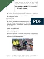 Manual de Operacion y Mantenimiento Saneamiento