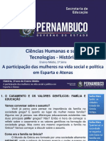 A participação das mulheres na vida social e política em Esparta e Atenas.ppt