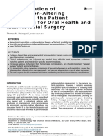 1. Administration of Coagulation-Altering Therapy in the Patient Presenting for Oral Health and Maxillofacial Surgery