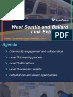 ST3 Ballard-West Seattle ELG February 2019 Presentation