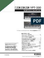 Manual Yamaha PSR E333