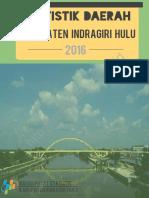 Statistik Daerah Kabupaten Indragiri Hulu 2016
