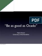 Lecture 3 Ocado Case Study