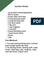 Resep Garang Asem Simple