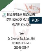 14. Benchmark Data IMUT Melalui SISMADAK