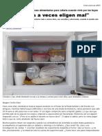 Guía Rápida y Recomendaciones Alimentarias Para Zafarla Cuando Vivís Por Las Tuyas