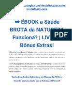 eBook a Saúde Brota Da Natureza Funciona?