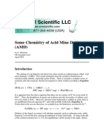 Some Chemistry of Acid Mine Drainage