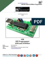 USB ISP 8051-AVR Programmer Datasheet MY TechnoCare