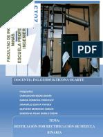 Modelmiento y Simulacion de Un Destilador