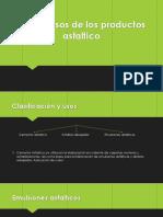 Tipos y Usos de Los Productos Asfaltico