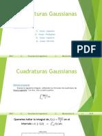 Cuadraturas Gaussianas