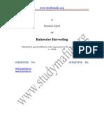 Civil Rainwater Harvesting Report Converted