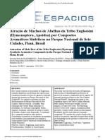 Atração de Machos de Abelhas Da Tribo Euglossini (Hymenoptera, Apoidea) Por Compostos Aromáticos Sintéticos No Parque Nacional de Sete Cidades, Piauí, Brasil