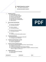 Applicant Document Checklist
