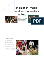 Institutionalization, Music Cultures and Interculturalism in Peru