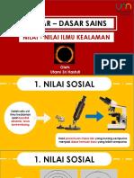 NILAI - NILAI SAINS