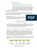 Determination of Subsurface Velocity