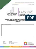 MANUAL PARA ESTABLECER Y OPERAR CENTROS DE VERIFICACIÓN VEHICULAR EN EL ESTADO DE MORELOS