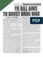 Peoples Journal, Feb. 6, 2019, Arroyo bill aims to boost drug war.pdf