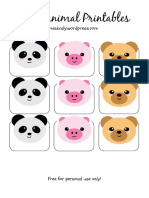 Cute Animal Printables