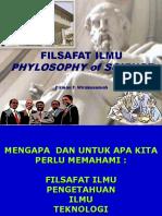 Kuliah Falsafah Ilmu, Pascasarjana 2018