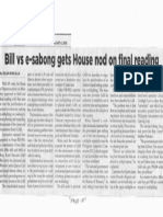 Philippine Star, Feb. 6, 2019, Bill vs e-sabong gets House nod on final reading.pdf