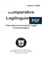 Comparative Legilinguistics